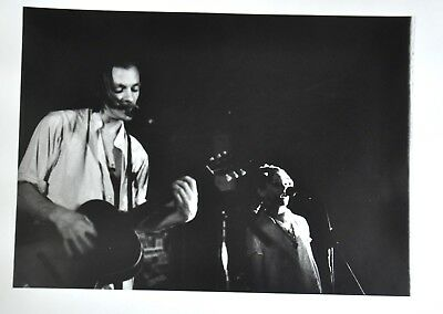 Original Black and White print of Chris Whitley and Trixie Whitley from 1997