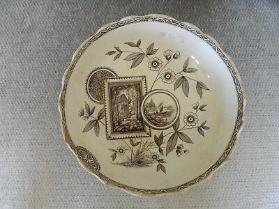 Antique ceramic / porcelain punch of large soup bowl RADF MARK, Perak J.B.