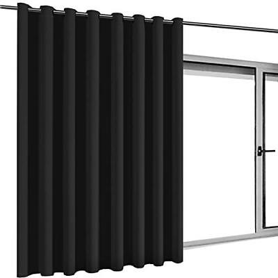 Turquoize Privacy Screen Room Divider Curtain Sliding Glass Door One Panel,8.3ft