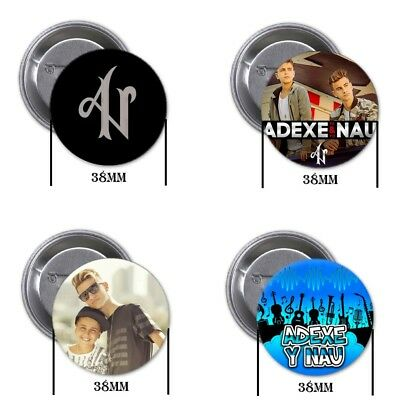 Adexe y Nau - 4 chapas, pin, badge, button