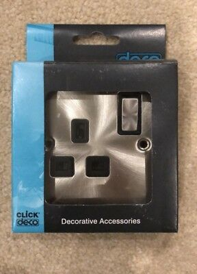 Scolmore Click Deco Victorian Satin Chrome Ingot 13A 1 Gang Switch Socket Outlet