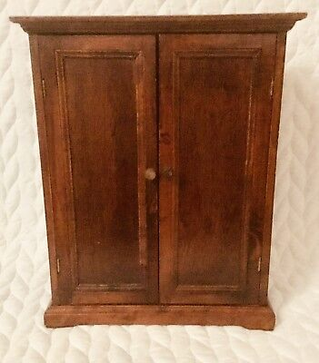 Small Cherry Wood Cabinet Or Doll Clothes Wardrobe