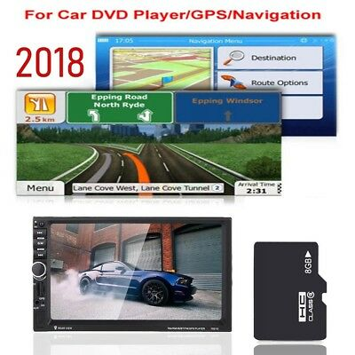 8GB GPS Map Micro SD Card For Car DVD Player Navigation With Latest Map
