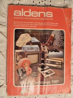 1981 Aldens  Christmas Book Catalog Toys Trucks Dolls Good