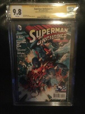 Superman Unchained 3 Signature Series Signed By Jim Lee & Snyder Cgc 9.8