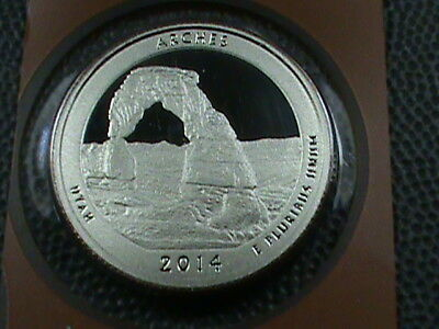 UNITED STATES   25 Cents   2014 - S  PROOF , ARCHES  ,  $ 2.99 max shipping USA