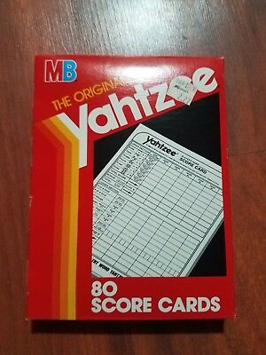 80 YAHTZEE Score Cards Pad Sheets Replacement Refill New free shipping