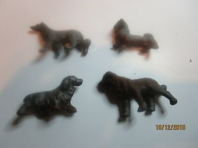 Cast Iron Miniarure Dogs Four Different Breeds