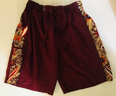 e7be82c11e Roundtree and Yorke Mens First Wave Swim Trunks Board Shorts Tropical Surf  Sz L
