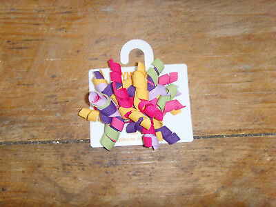 NWT Gymboree hair accessory curlies barrettes clip 2012 purple yellow pink green
