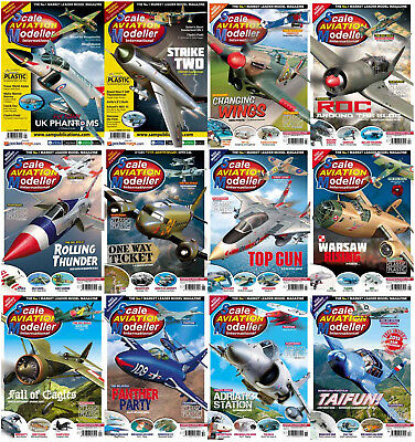 Scale Aviation Modeller International Magazine's (2 DVDs) Aircraft Modeler Pdf's