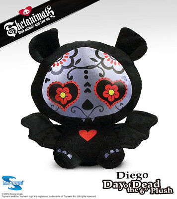 Skelanimals Day of the Dead Diego the Bat Deluxe 6 Inch Plush- New with Tags