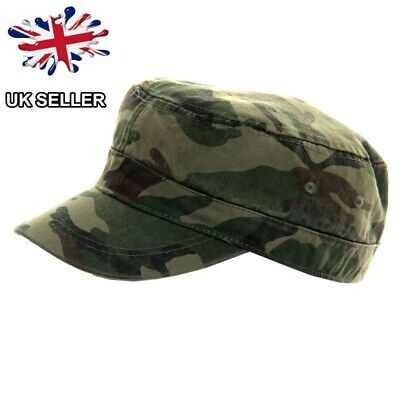 0547caa4066 New Camouflage Cadet Cap Cotton Camo Hat Army Peak 2 Sizes New