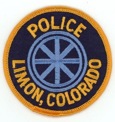 """Limon Colorado Co Police Colorful 3"""" Patch See Below For Great Deal"""
