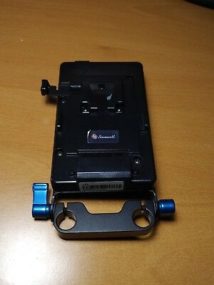 Soonwell VFU1 V-Lock 14.8v Li-ion Battery Mounting Plate with 15mm rod support