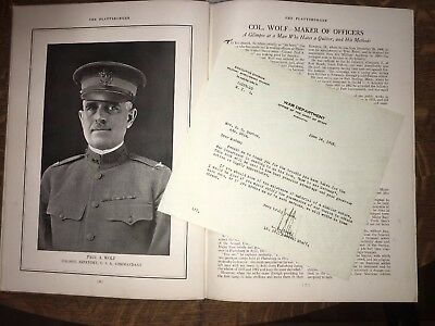 Military Yearbook 1917 WWI PLATTSBURGER Plattsburg NY ARMY Training w/ letter