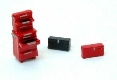 JL Innovative (HO-Scale) #433 TOOL BOXES & CHEST (3-Pieces)  - NIB