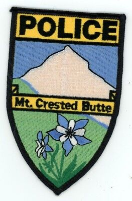 Mount Mt Crested Butte Colorado Co Police Colorful See Below For Great Deal