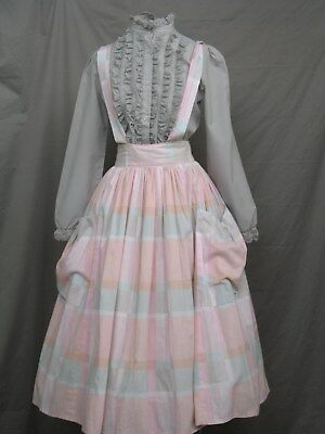 Victorian Dress Edwardian Civil War Prairie Western Style Blouse and Skirt