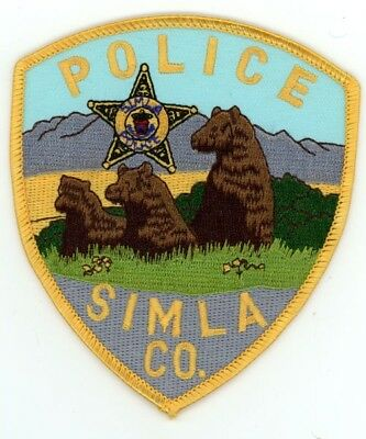 Simla Colorado Co Police Colorful See Below For Great Deal