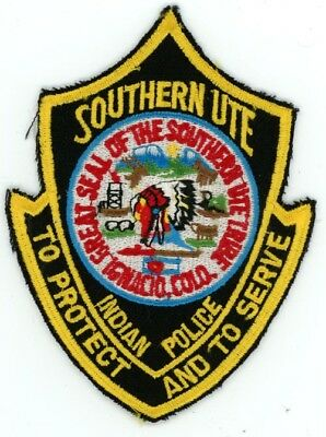 Southern Ute Indian Tribe Colorado Co Police Colorful See Below For Great Deal