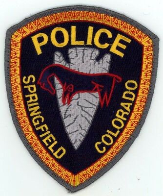 Springfield Colorado Co Police Colorful See Below For Great Deal