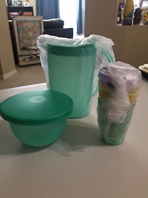 Tupperware Impressions Kids 6pc Mini Party Set: Pitcher 4 Tumblers Bowl NEW