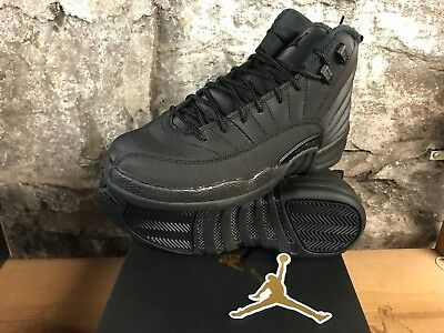 Air Jordan 12 Retro WNTR BQ6852-001 Black Anthracite GS BOYS SZ 4-7  SHIPS NOW