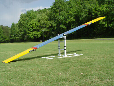 """Dog Agility See-Saw AKC Standard, 12' Long, in Blue,  Heights: 21"""",24"""",27"""",30"""""""