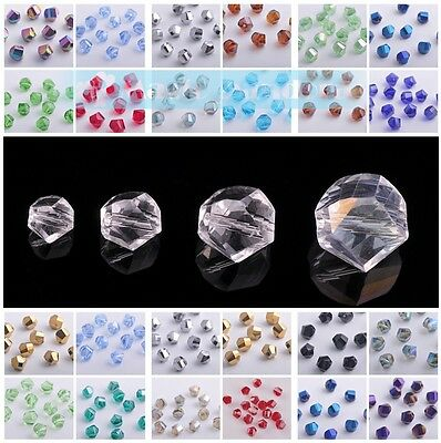 Wholesale 6/8/10/12mm Twist Helix Faceted Crystal Glass Loose Beads DIY Craft