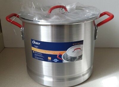Oster Cocina Pamona 20 Qt. Tamale Multi-pot with Steamer Insert