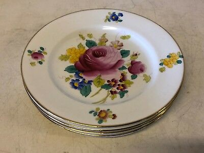 Antique Royal Chelsea Porcelain Bowl and Underplate w/ Multicolored Floral Dec.
