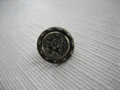 Vintage Small 1/2 Inch Metal Plant Life Button, Back Mark 1884 DIPONIRY - M94