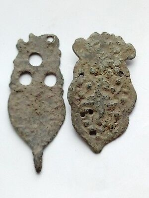 Lot Of 2 Byzantine Bronze Appliques