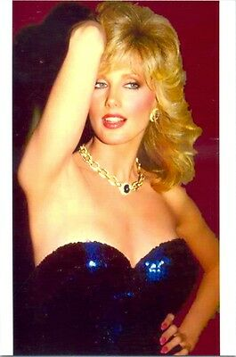 Morgan Fairchild - In Blue Dress, Great Headshot !!!