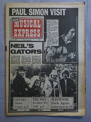 NEW MUSICAL EXPRESS 3rd March 1973 ~ Rolling Stones ~ The Who ~ Steve Winwood!
