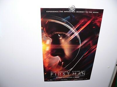 (50) FIRST MAN - 11x17 Original Promo Movie Poster Ryan Gosling Neil Armstrong