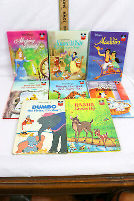 Lot 8 Disney's Wonderful World of Reading Childrens Books Some First Edition