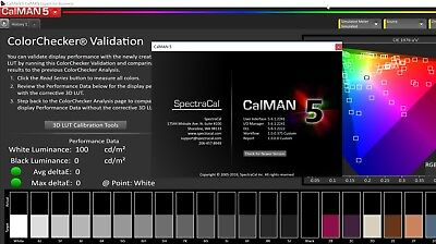 SpectraCal C6 Colorimeter and Calman 5 Business with Design mode license