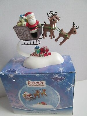 "Department 56 ""Rudolph With Your Nose So Bright"" Bobbing Ornament"