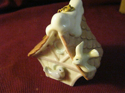 Lladro Christmas Ornament - Welcome Home Bird House - 6335
