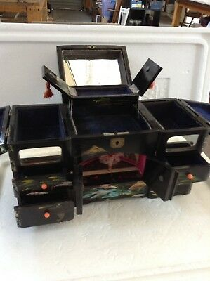 Japanese Black Lacquer Jewellery Music Box