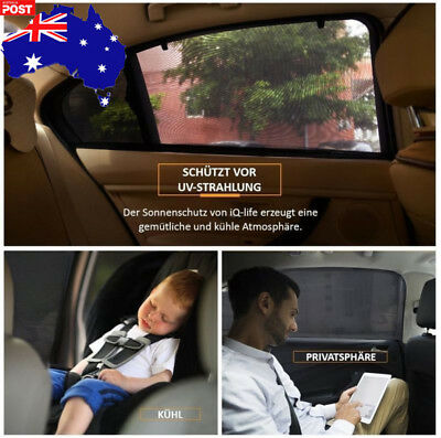 2x Universal Sun Shades Rear Side Seat Car Window Socks Baby Kids Protection AU