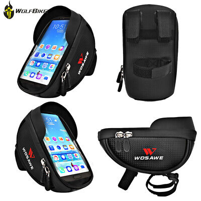 Bicycle Front Bag Frame Top Tube Phone Bags Waterproof Touch Screen Rainproof