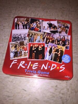 FRIENDS TV Show Trivia Board Game Red Tin Box 2003 By Cardinal, Complete