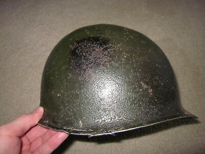 Original vintage WWII US Army front seam M1 steel helmet and liner !!!