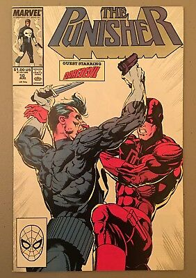 Punisher 10 VF/NM 9.0 1988 Daredevil x-over Stan Lee $3.95 unlimited Ship!