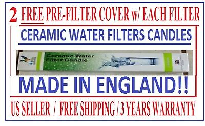 "AquaCera Replacement type 10/"" Bacteria Cyst /&Turbidity Sediment Ceramic Filter"