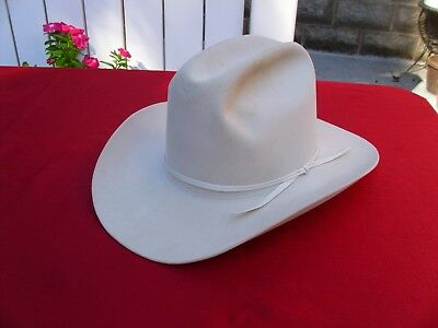 Resistol Off White Self-Conforming Western Hat 5X Beaver