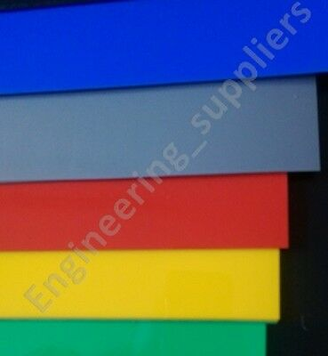 Thin HIPS Plasticard Sheet Blue Red Yellow Green Grey Black & White A5, A4 & A3